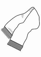 Bufanda Scarf Colorear Coloring Dibujo Invierno Dibujos Bufandas Ropa Inverno Printable Humano Imagenes Winter Corpo Colorir Designlooter Wraps Desenhar Aprender sketch template