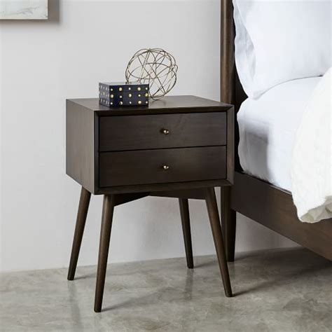nightstand west elm mid century nightstand mineral west elm