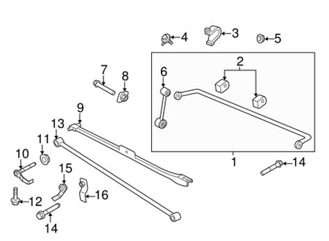 Oem Ford Mustang Stabilizer Bar Components Parts