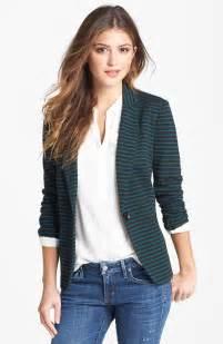 Olivia Moon Knit Blazer Striped