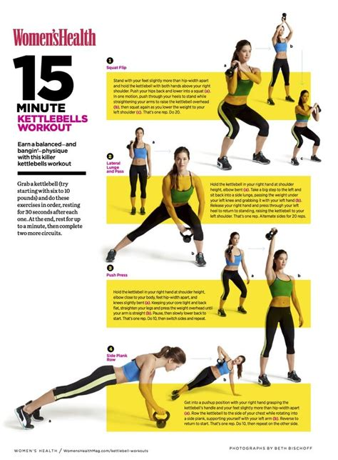 kettlebell workout workouts printable kettlebells exercise minute exercises routines training kettle bell fitness ball heavy weights weight ab crossfit health