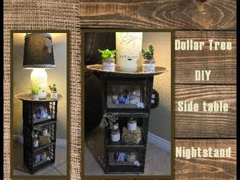 dollar tree diy side table night stand youtube