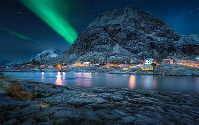 Pc Night Sky Desktop Landscape Norway Polar