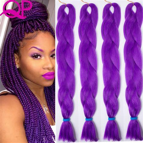 black  purple kanekalon braids menhairdos