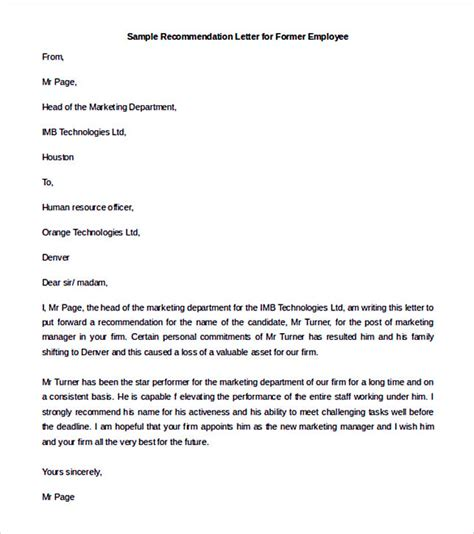 employee reference letters reference letter for 8