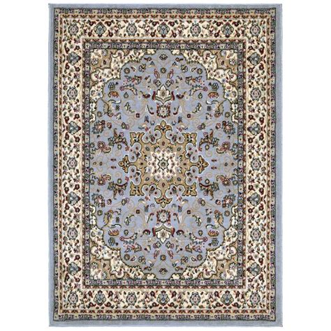 5x7 grey rug ottomanson traditional medallion gray 5 ft x 7 ft area