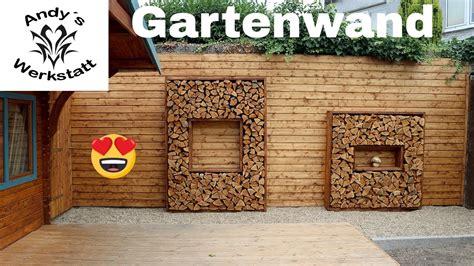 Deko Mauer Im Garten by Mauer Im Garten Versch 246 Nern Holzrahmen Mit Holzscheiten