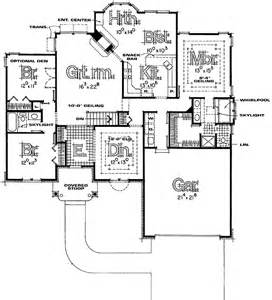 Split Bedroom Ranch Floor Plans by One Story Split Bedroom Home Plans Home Design And Style