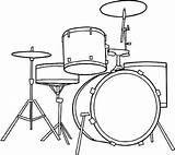 Drum sketch template