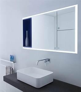 miroir salle de bain lumineux en 55 designs super modernes With salle de bain design avec meuble miroir salle de bain castorama