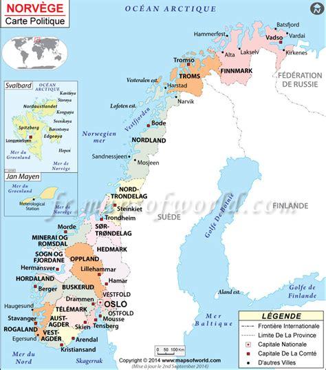 Carte Du Monde Avec Norvege by Norv 232 Ge Carte Carte De La Norv 232 Ge