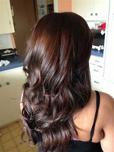 Dark Brown Red Tint Hair Color In 2016 Amazing Photo