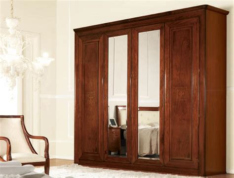 Wood Wardrobe With Mirror by Classic Wardrobe With Mirrors With Drawers