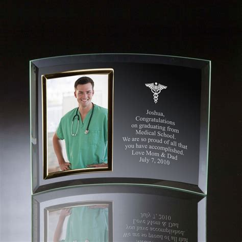 doctors curved glass vertical  photo frame