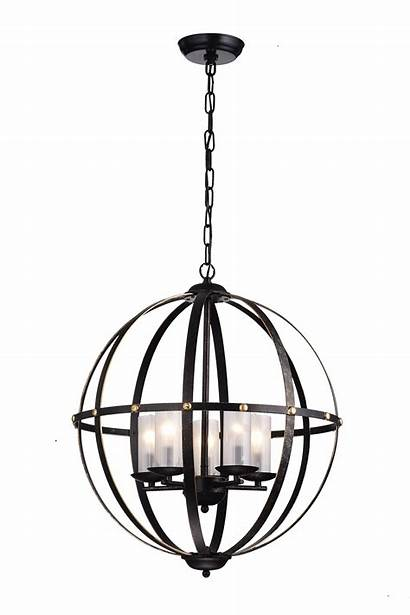 Sphere Frosted Orb Cage Chandelier Globe Shade