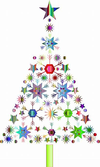 Christmas Tree Clip Snowflake Clipart Background Abstract