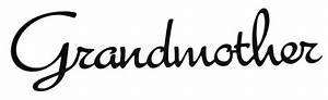 Word Cutout Grandmother