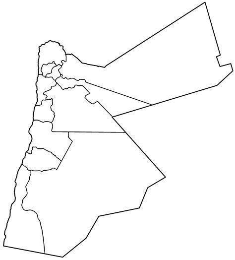 jordan governorates blank mapsofnet