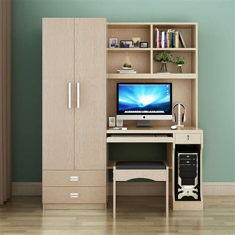 image of armoire computer table desktop home computer desk combination bookcase