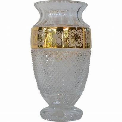 Crystal Bohemia Czech Vase Lead Tom Ruby