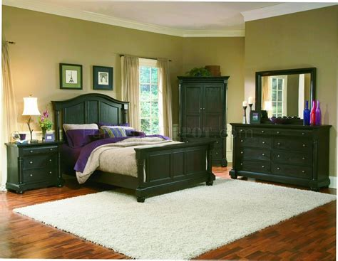 Bedroom Design For by Mocha Finish Classic 5pc Size Bedroom Set W