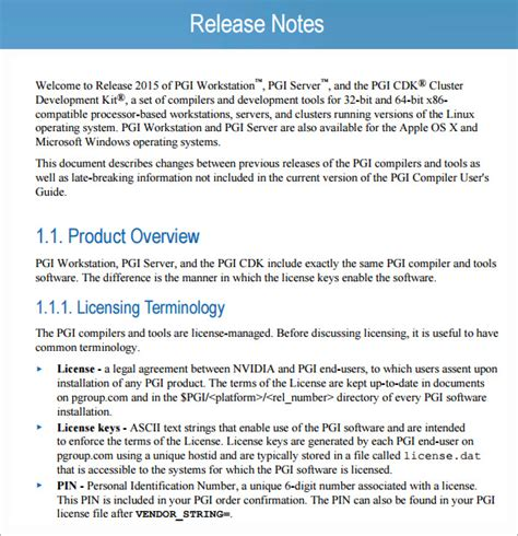 6+ Sample Release Notes  Sample Templates