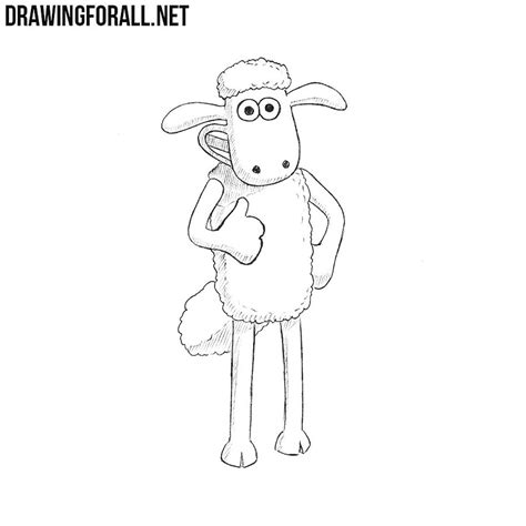 draw shaun  sheep drawingforallnet