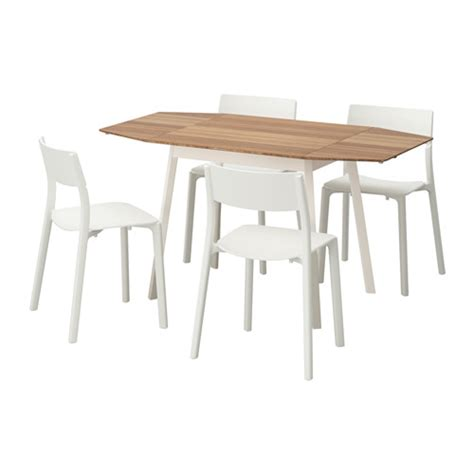 table 4 chaises ikea janinge ikea ps 2012 table and 4 chairs bamboo white 138 cm ikea