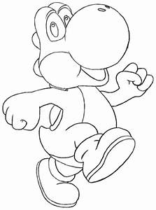 Free how to draw yoshi coloring pages