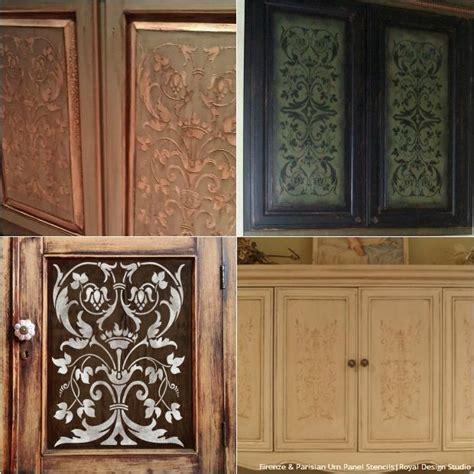 kitchen door ideas 20 diy cabinet door makeovers with furniture stencils