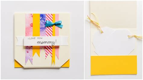 how to make greeting card mother s day step by step