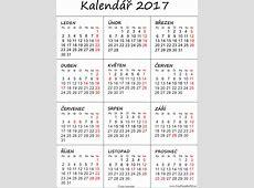 Kalendář 2017 k vytisknutí pdf Soubory PDF zdarma pro tisk