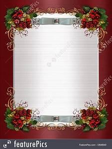 Invitation Words Templates Christmas Or Winter Wedding Border Stock