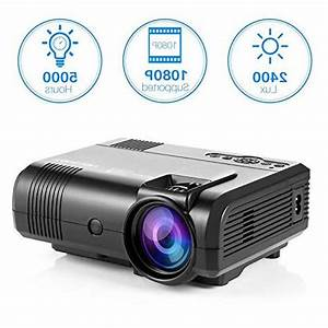 Projector  Tontion 2400 Lux Video Projector Supporting 1080p
