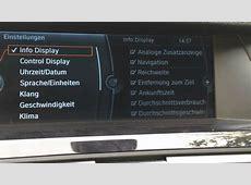 BMW Navi Pro Servicemenü freischalten 7er F01 5er F10