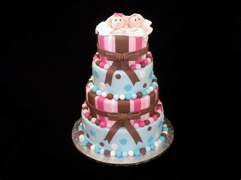 g 226 teau shower jumeaux g 226 teau cake shower b 233 b 233 baby tw flickr