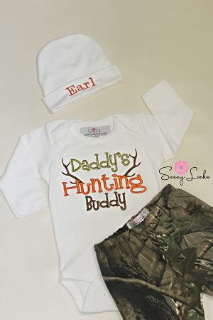 deer hunting baby boy clothes  personalized hat pants