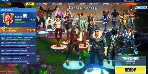 fortnite battle royale     fortnite  player lobby