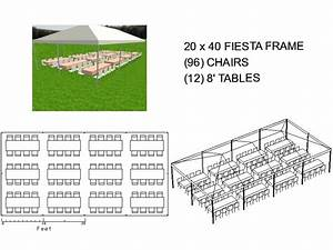 20x40 Frame Tent Seats 96