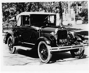 1929 Ford Model A Cabriolet W   Woodlites  Factory Photo