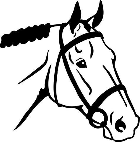 horse head face template clipart horses cute drawings forward quarter templates shadow