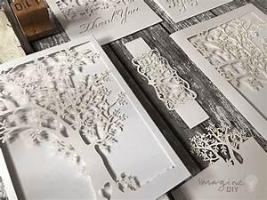 prosperity white invitation With blank laser cut wedding invitations uk