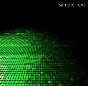 Green geometric tech background. Creative background ...
