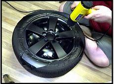 DIY Wrapping Rims in Matte Black Vinyl YouTube