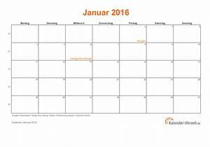 Kalender Zum Ausdrucken 2016 : januar 2016 kalender mit feiertagen ~ Whattoseeinmadrid.com Haus und Dekorationen