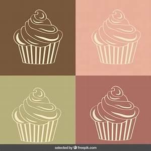 Cupcake Esquema | Fotos y Vectores gratis