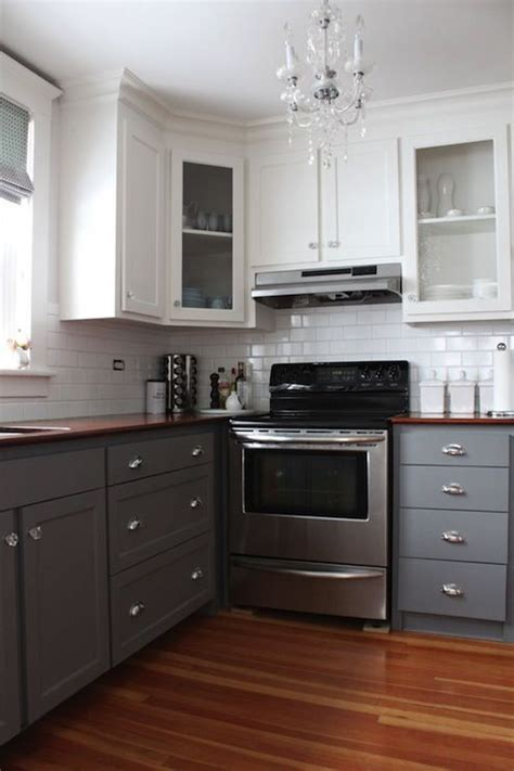 Two Tone Cupboards by 2 Tone Kitchen Transitional Kitchen Benjamin