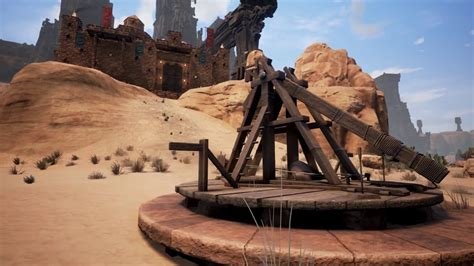 siege v駘o conan exiles features siege weapons