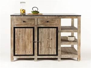 Ilot Central Bois : ilot central de cuisine en bois et marbre longueur 145cm ~ Teatrodelosmanantiales.com Idées de Décoration