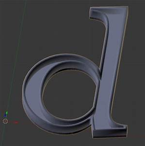 how to properly create hollow text letter suitable for 3d With hollow 3d letters
